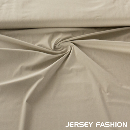 Stretch cotton Poplin Sand