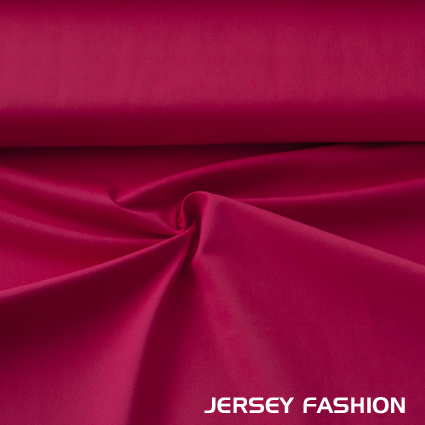 Stretch cotton twill fabric red-fuchsia