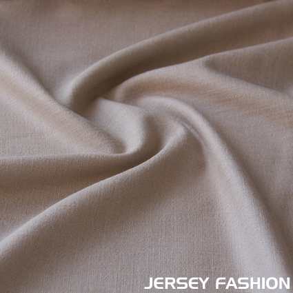 Stretch linen warm beige