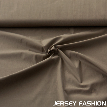 Stretch cotton Poplin taupe