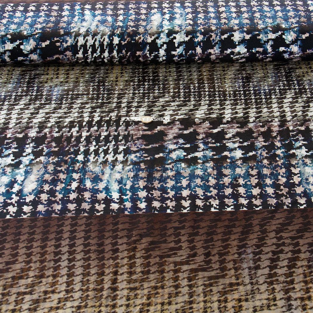 hilco inkjet viscose jersey pied de coq avantgarde. Black Bedroom Furniture Sets. Home Design Ideas