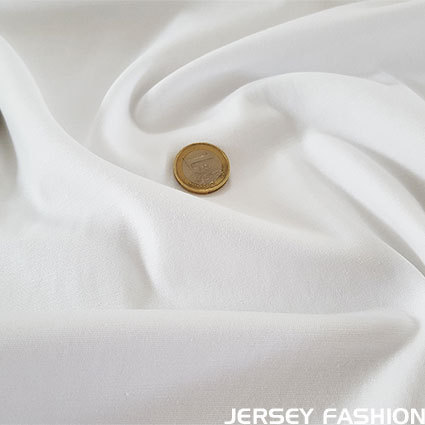 Toptex fine stretch cotton twill fabric white