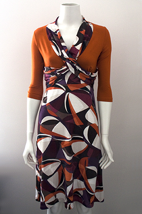 Sewing fabrics online - Warm orange viscose jersey Hilco