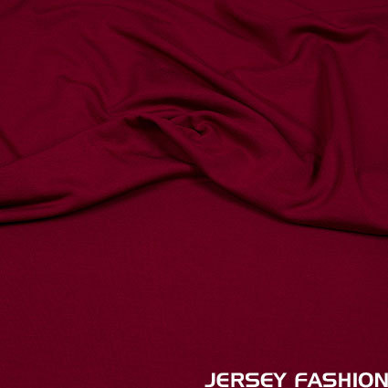 Hilco viscose jersey burgundy red