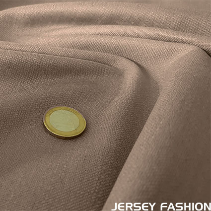 Stretch linen mocha-beige