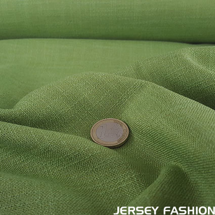 Stretch linen lime green