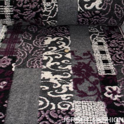 Hilco Wool Patch Boucle Walk Stoff - Jersey Fashion