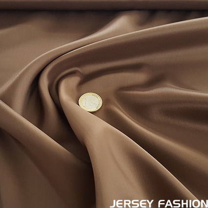 Viscose lining cognac brown