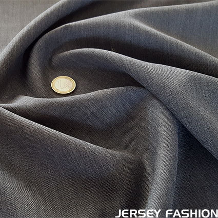 Wool gabardine anthracite grey