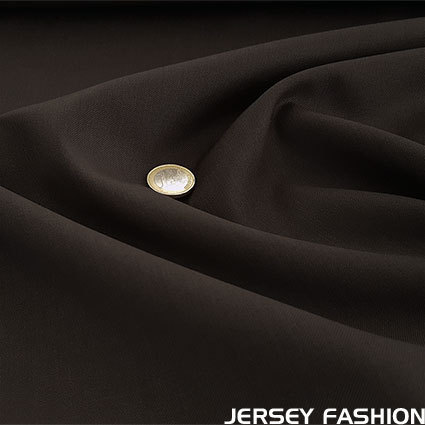 Wool gabardine dark brown