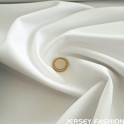 Heavy jersey wool white