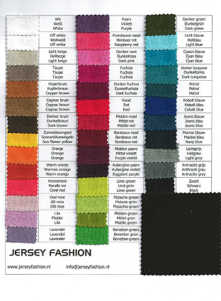 Digital shade card Hilco plain Viscose Elastane Jersey