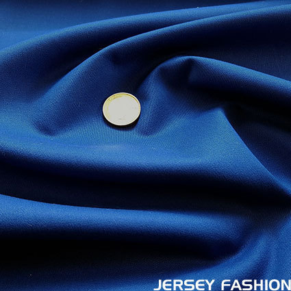 Stretch cotton twill fabric cobalt blue