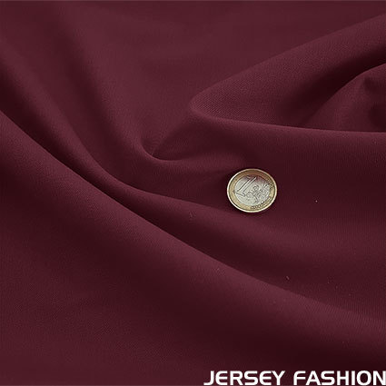 Wool gabardine burgundy red
