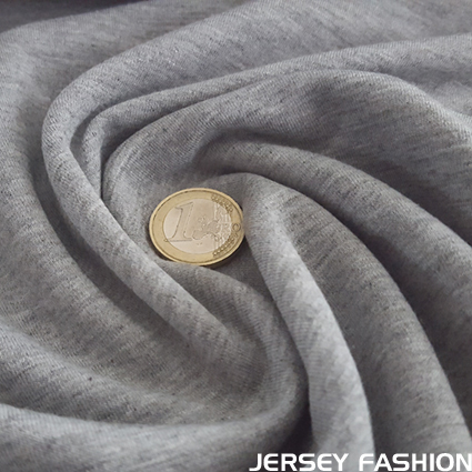 Sweatshirt stretch en coton gris clair mélangé