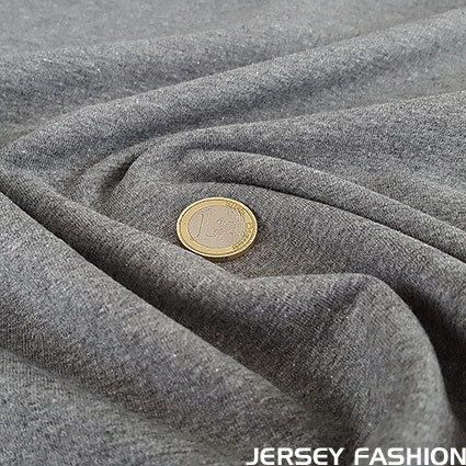 Stretch cotton sweatshirt anthracite grey