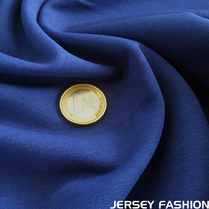 Stretch cotton sweatshirt fabric cobalt blue