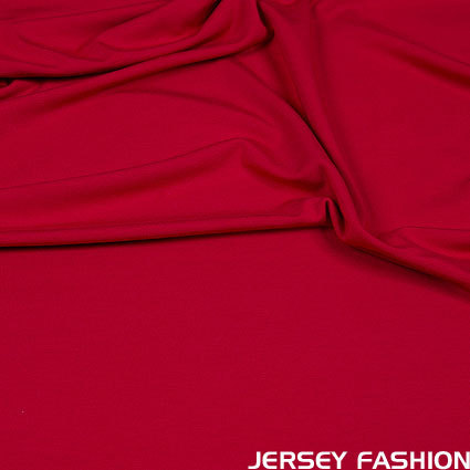 Hilco viscose jersey fabric middle red