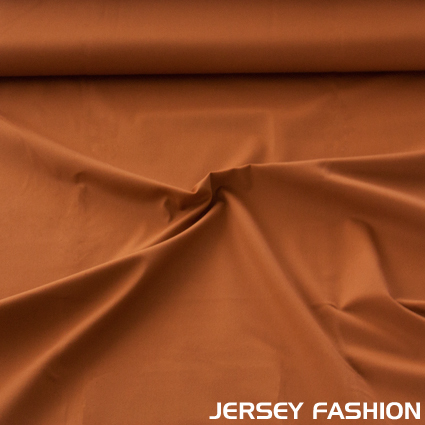 Stretch cotton twill weave fabric dark curry