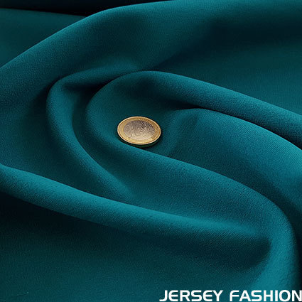 Zware jersey donker turquoise