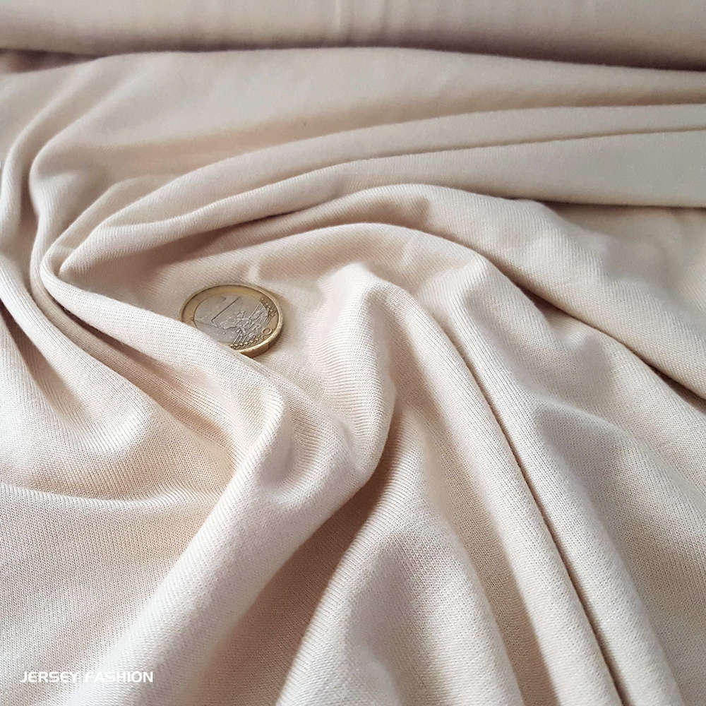 43fcc2e04fc Toptex bamboo jersey soft light beige | Natural fashion fabrics