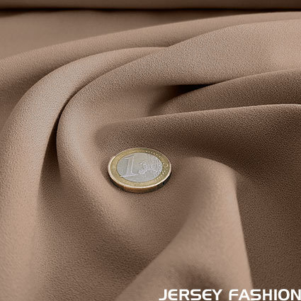 Fine stretch crepe fabric camel - Toptex