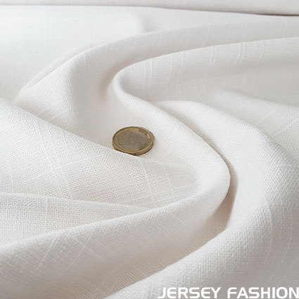 Viscose linen fabric white