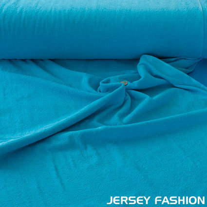 Terry cloth 100% cotton cyan blue
