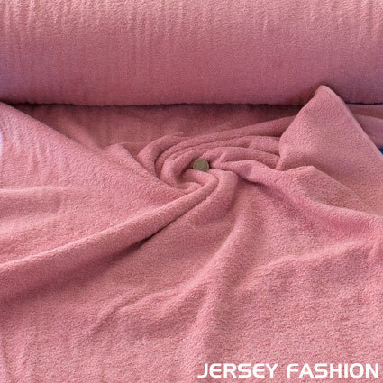 Terry cloth 100% cotton old rose