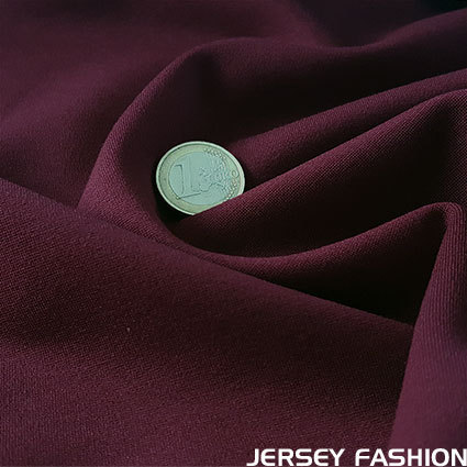 Heavyweight jersey burgundy red