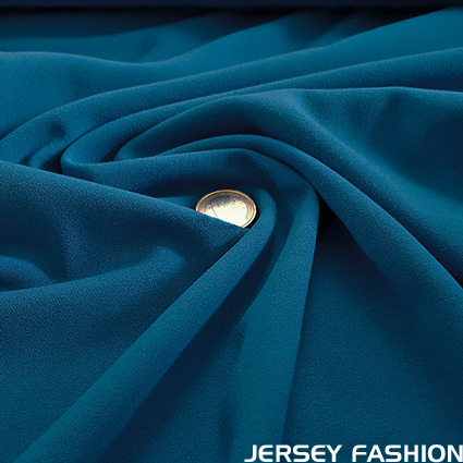 Fine stretch crepe cornflower blue - Toptex