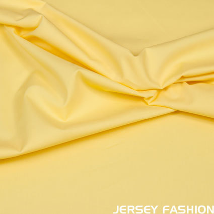 Stretch cotton poplin soft yellow
