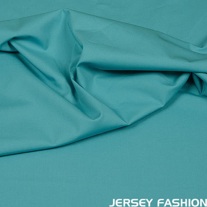 Stretch cotton poplin soft turquoise