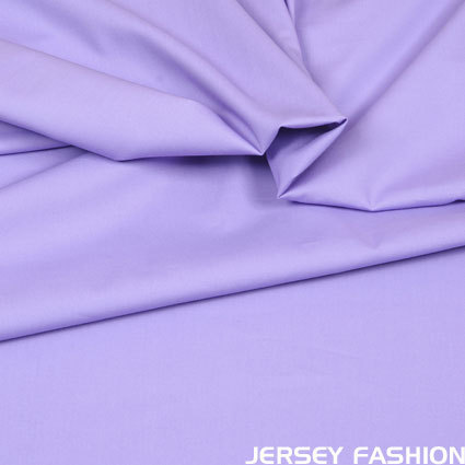 Stretch cotton poplin soft lavender