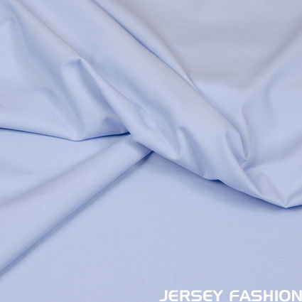 Stretch cotton poplin soft blue