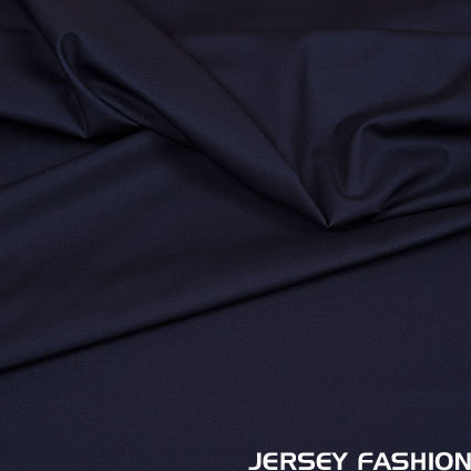 Stretch cotton poplin dark blue