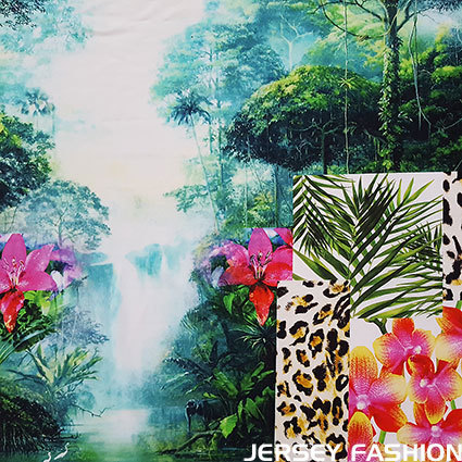 "Inkjet viscose jersey ""Jungle"""