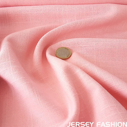 Viscose linen soft rose