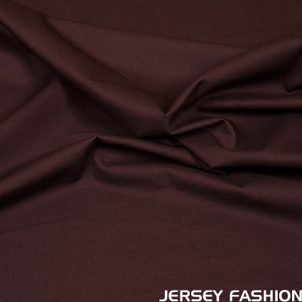 Stretch cotton poplin dark brown