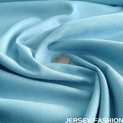 Stretch linen blue topaz
