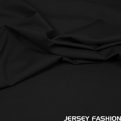 Stretch cotton poplin black