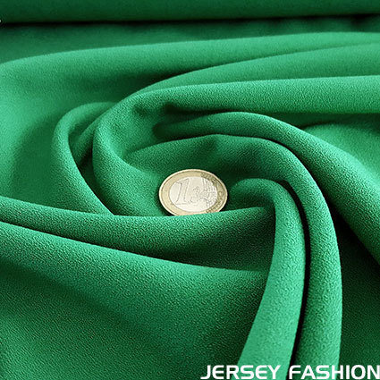 Fine stretch crepe emerald green - Toptex
