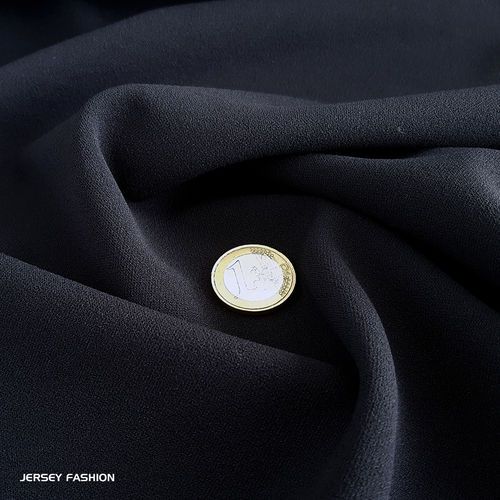 Jersey crepe fabric dark blue