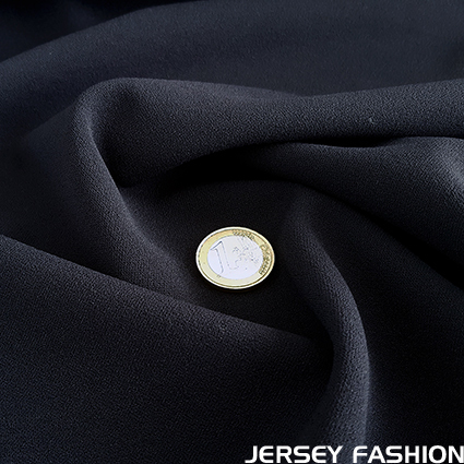 Jersey crêpe fabric dark blue