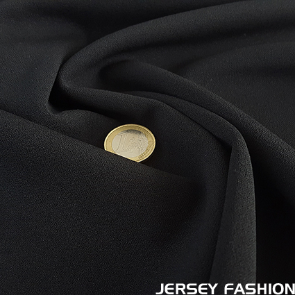 Jersey crêpe fabric black