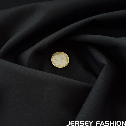 Italian stretch virgin wool fabric black