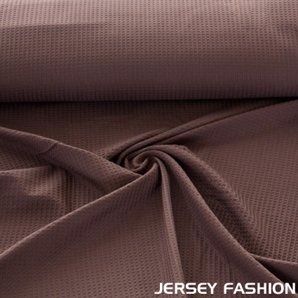 Waffle pique fabric dark brown | Coupon 242cm