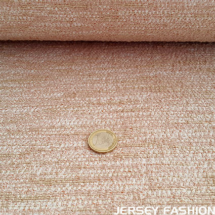 "Hilco stretch bouclé fabric ""Elegante"" old rose"