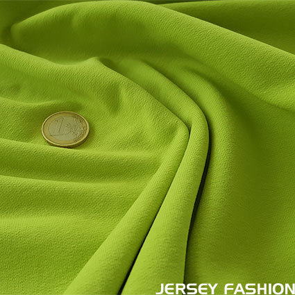 Stretch katoen sweatshirt lime | Coupon 57cm