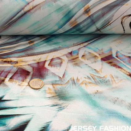 "Inkjet viscose jersey ""Echo Bay"""